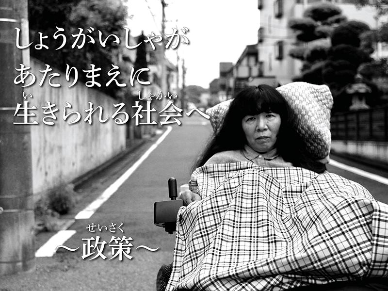 障がい者があたりまえに生きられる社会へ〜木村英子の政策〜